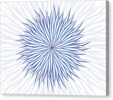 Canvas Print featuring the digital art Consontrate by Jamie Lynn