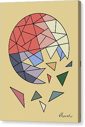 Constant Evolution Canvas Print by Absentis Designs