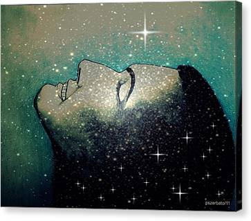 Constellation Of Dreams Canvas Print by Paulo Zerbato