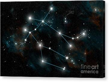 Zeus Canvas Print - Constellation Of Gemini by Marc Ward