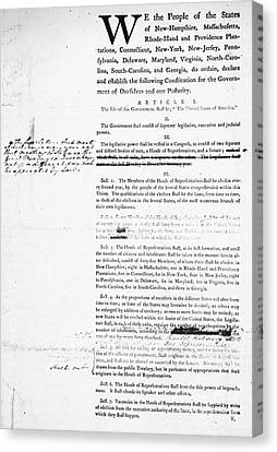 Constitution: Draft, 1787 Canvas Print by Granger