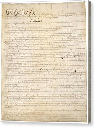 Constitution Of The United States Canvas Print by Everett