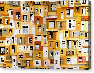 Construction 30 Canvas Print by Ashley Lathe