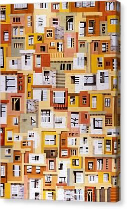 Construction 34 Canvas Print by Ashley Lathe
