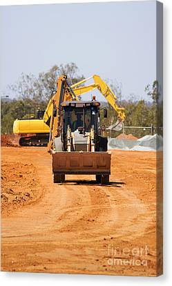 Construction Digger Canvas Print by Jorgo Photography - Wall Art Gallery