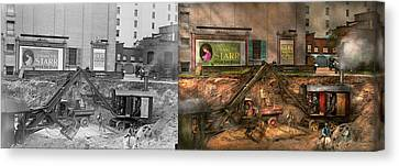 Construction - It Pays To Flirt 1916 - Side By Side Canvas Print