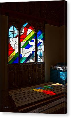 Construction Under Colors Canvas Print by Christopher Holmes