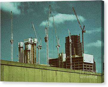 Construction Works In Stratford Canvas Print
