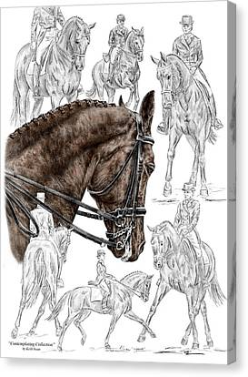 Spirits Canvas Print - Contemplating Collection - Dressage Horse Print Color Tinted by Kelli Swan