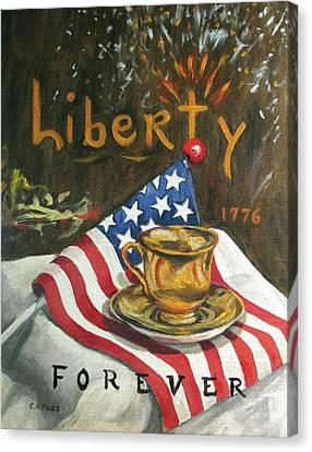 Contemplating Liberty Canvas Print by Cheryl Pass