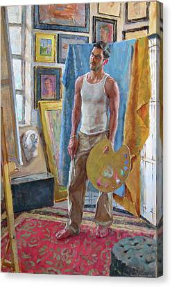 Contemplation In The Studio Canvas Print by David Tanner