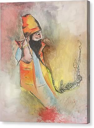 Sikh Art Canvas Print - Contemplation by Teresa Schaeffer