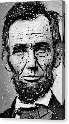 Contemplative Abe Lincoln Canvas Print