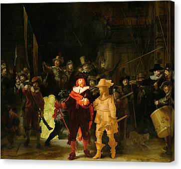 Contemporary 1 Rembrandt Canvas Print by David Bridburg