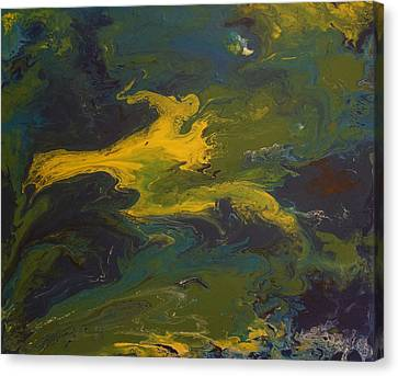 Goldilocks Canvas Print - Contemporary Abstract Painting -  Goldilocks Zone Terrain No 2 by Adam Asar