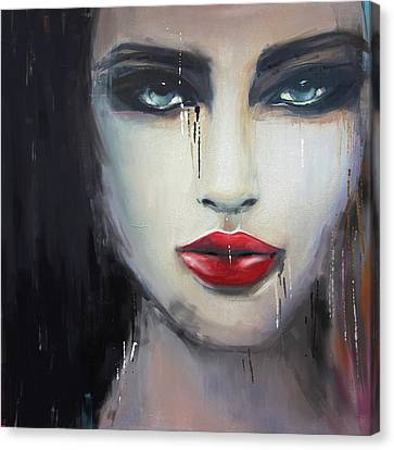 Contemporary Abstract Portrait Painting 181 II Canvas Print