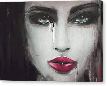 Contemporary Abstract Portrait Painting 181 Iv Canvas Print