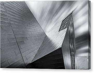 Contemporary Architecture Of The Shops At Crystals, Aria, Las Ve Canvas Print by Adam Romanowicz