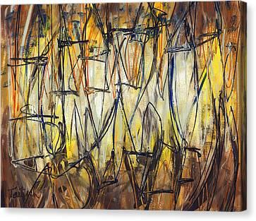 Contemporary Art Three Canvas Print