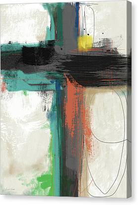 Contemporary Cross 2- Art By Linda Woods Canvas Print