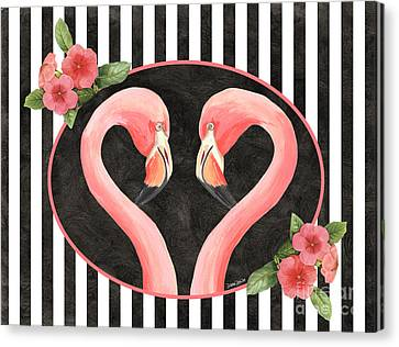 Contemporary Flamingos 1 Canvas Print