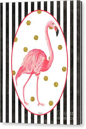 Contemporary Flamingos 2 Canvas Print by Debbie DeWitt