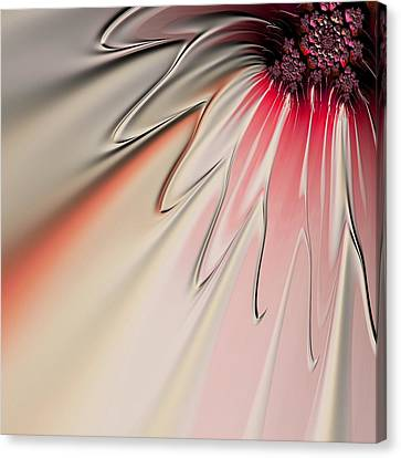Canvas Print featuring the digital art Contemporary Flower by Bonnie Bruno