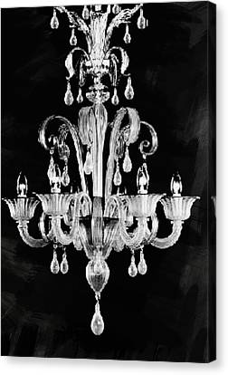 Contemporary Glass Chandelier Canvas Print by Art Spectrum