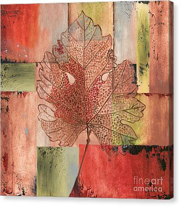 Contemporary Grape Leaf Canvas Print by Debbie DeWitt