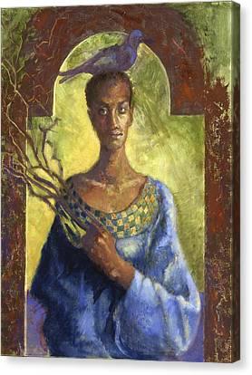 Contemporary Icon Canvas Print by Ellen Dreibelbis