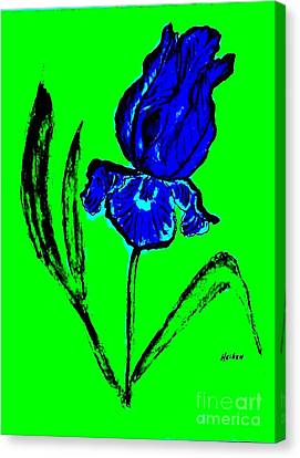 Contemporary Iris Canvas Print by Marsha Heiken