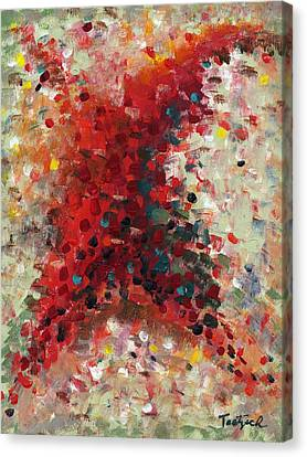 Contemporary Canvas Print - Contemporary Painting Ten by Lynne Taetzsch