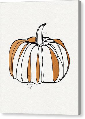 Contemporary Pumpkin- Art By Linda Woods Canvas Print by Linda Woods