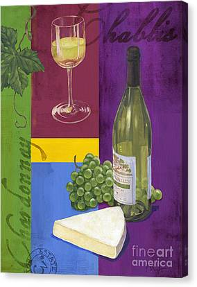 Contemporary Wine Collage II Canvas Print by Paul Brent