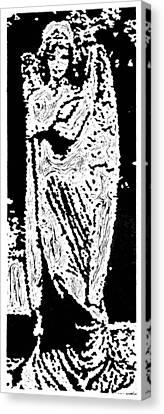 Contentment --  Hand-pulled Linoleum Cut Canvas Print