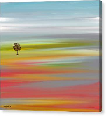 Canvas Print featuring the mixed media Contentment by Andrew Penman
