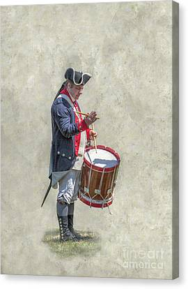Canvas Print featuring the digital art Continental Army Drummer American Revolution by Randy Steele