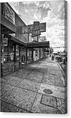 Austin Canvas Print - Continental Club Austin Black And White by Tod and Cynthia Grubbs