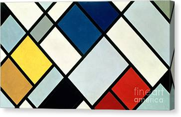 Cubism Canvas Print - Contracomposition Of Dissonances by Theo van Doesburg