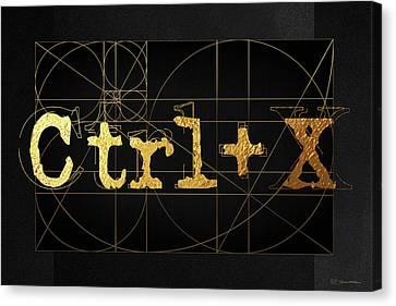 Canvas Print featuring the digital art Control X - Cut by Serge Averbukh