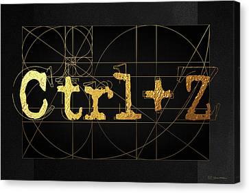 Canvas Print featuring the digital art Control Z - Undo by Serge Averbukh