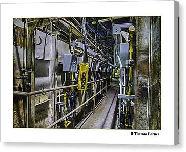 Controls Canvas Print by R Thomas Berner