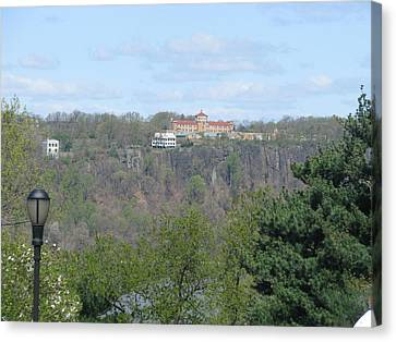 Convent On The Cliffs Canvas Print by Hasani Blue