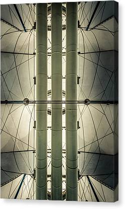 Canvas Print featuring the photograph Convention Center Ceiling by Alexander Kunz