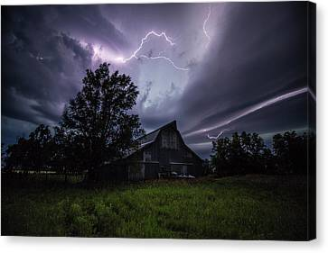 Canvas Print featuring the photograph Convergence  by Aaron J Groen