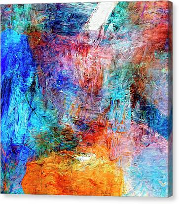 Canvas Print featuring the painting Convergence by Dominic Piperata