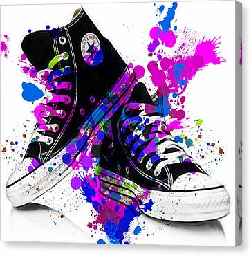 Tennis Canvas Print - Convers All Stars by Marvin Blaine