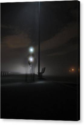 Canvas Print featuring the photograph Conversation In The Mist by Digital Art Cafe