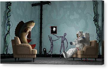 Conversing With Demons At 2 Am Canvas Print