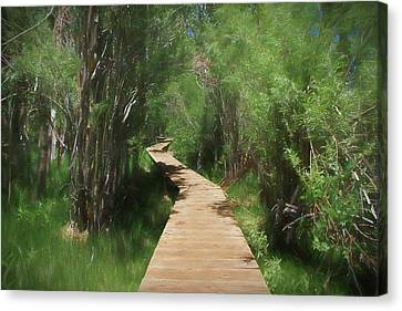 Canvas Print featuring the photograph Convict Lake Loop Trail by Donna Kennedy